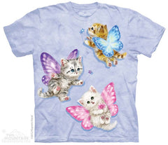 153568 Butterfly Kitten Fairies Youth T-Shirt