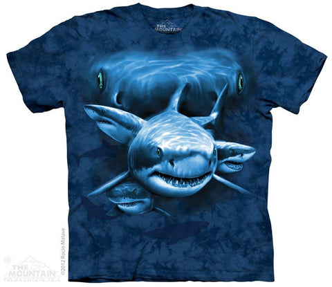 153580 Shark Moon Eyes Youth T-Shirt