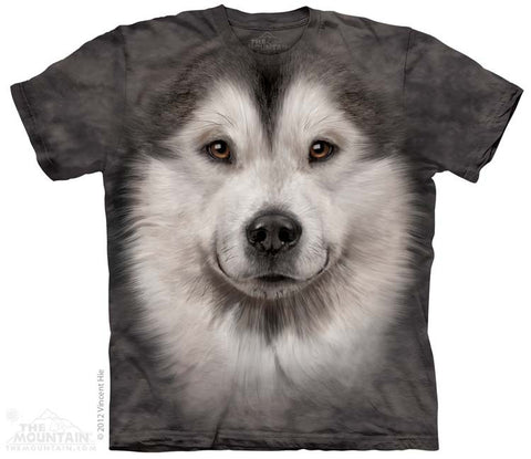 153592 Alaskan Malamute Face Youth T-Shirt