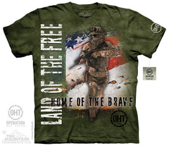 The Mountain Wholesale - 4828 Home of the Brave T-Shirt