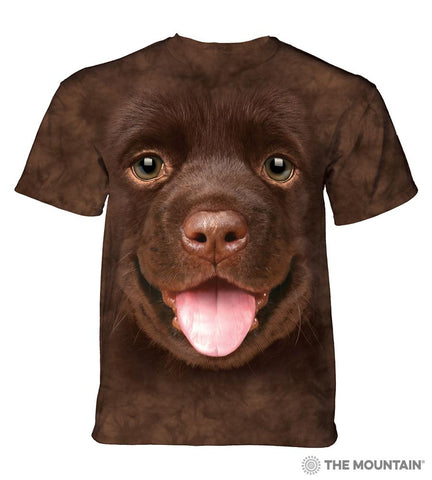 5795 Big Face Chocolate Lab Puppy T-Shirt