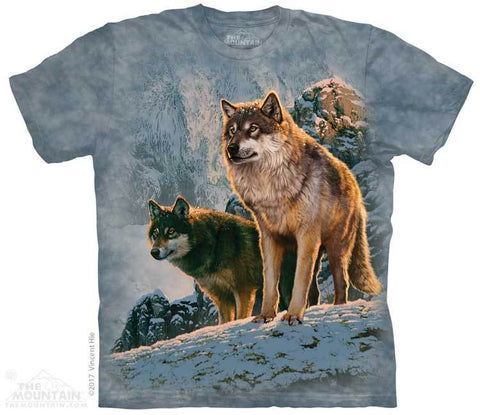 5938 Wolf Couple Sunset T-Shirt