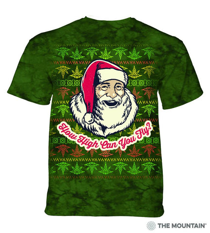 6176 Fly High Santa T-Shirt