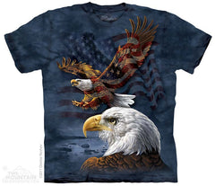 The Mountain Wholesale T-Shirts Eagle Flag Collage