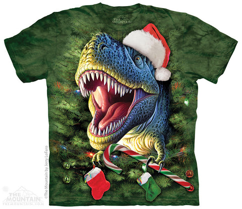 8615 Xmas T-Rex Youth T-Shirt