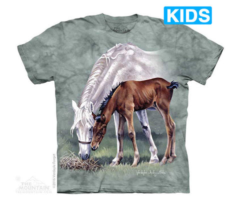 4950 Horses in Springtime Youth T-Shirt