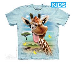 4985 Giraffe Selfie Youth T-Shirt