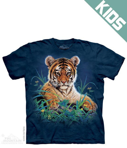 1094 Tiger Cub In Grass Youth T-Shirt