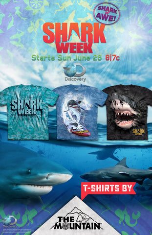SW2 Shark Week Poster Shirts