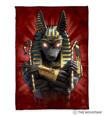 "3892 Anubis Soldier 50x60"" Sherpa Fleece Blanket"