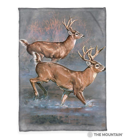 "4311 Whitetail Run 50x60"" Sherpa Fleece Blanket"