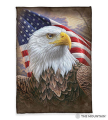 "4848 Independence Eagle 50x60"" Sherpa Fleece Blanket"