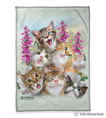"4988 Kittens Selfie 50x60"" Sherpa Fleece Blanket"