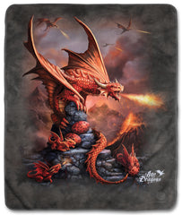 "5923 Fire Dragon 50x60"" Sherpa Fleece Blanket"