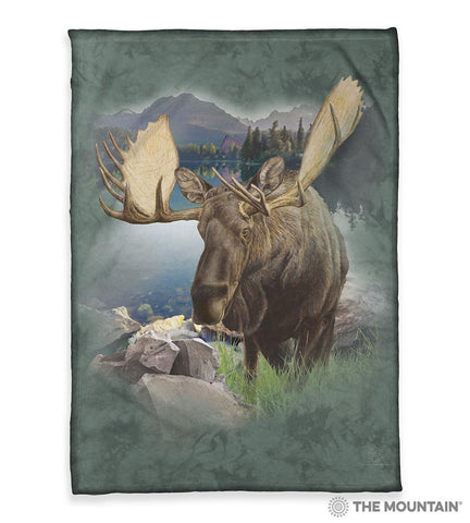 "6168 Monarch of the Forest 50x60"" Sherpa Fleece Blanket"