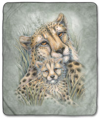 "6276 Cheetahs 50x60"" Sherpa Fleece Blanket"