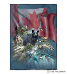 "8569 Canada the Beautiful 50x60"" Sherpa Fleece Blanket"