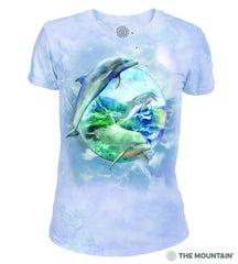 265896 Dolphin Bubble Women's Tri-blend T-Shirt
