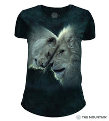 265937 White Lions Love Women's Tri-blend T-Shirt
