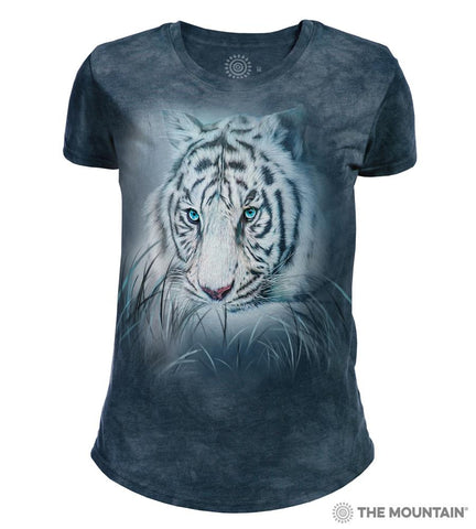 265964 Thoughtful White Tiger Women's Tri-blend T-Shirt