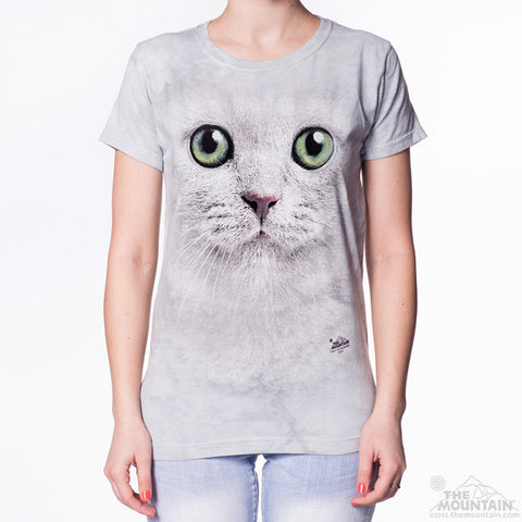 283357 Green Eyes Face Ladies Tee