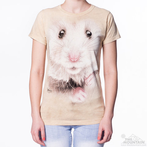 283621 Hamster Face Ladies Tee