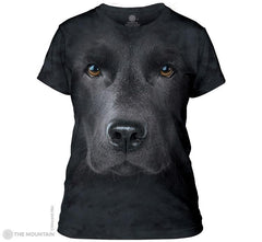 283255 Black Lab Face Ladies Tee