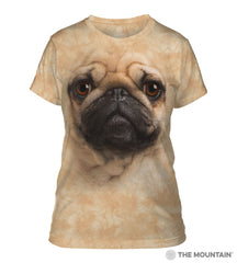 283369 Pug Face Ladies Tee