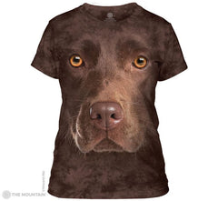 283550 Chocolate Lab Face Ladies Tee