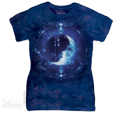 284251 Moon Face Classic Ladies Tee