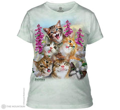 284988 Kitten Selfie Ladies Tee