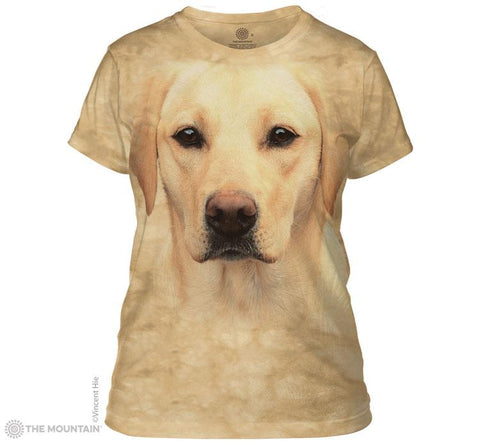288146 Yellow Lab Portrait Ladies Tee