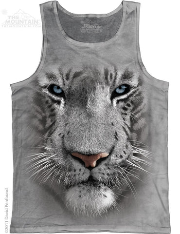 363252 White Tiger Face Tank