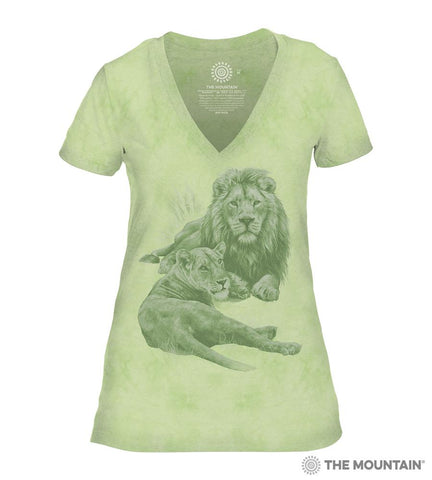 6502 Monotone Lions - Green Women's Triblend T-Shirt