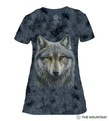 414979 Warrior Wolf Women's Tri-Blend V-Neck T-Shirt