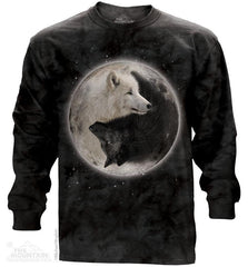 453922 Yin Yang Wolves Long Sleeved T-Shirt