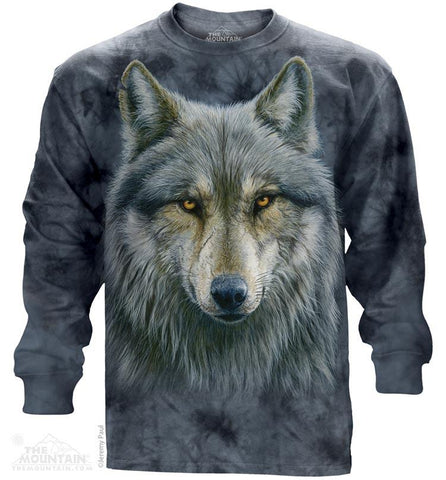 454979 Warrior Wolf Long Sleeved T-Shirt
