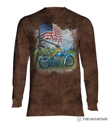 6198 Biker Americana Long Sleeve T-Shirt
