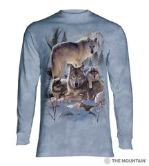 6283 Wolf Family Mountain Long Sleeve T-Shirt