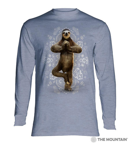 6287 Namaste Sloth Long Sleeve T-Shirt