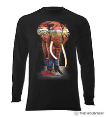 6322 Painted Elephant Long Sleeve T-Shirt