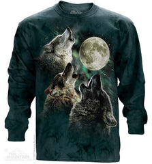 452053 Three Wolf Moon Long Sleeved Tee