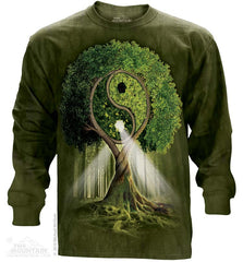 453209 Yin Yang Tree Long Sleeved Tee