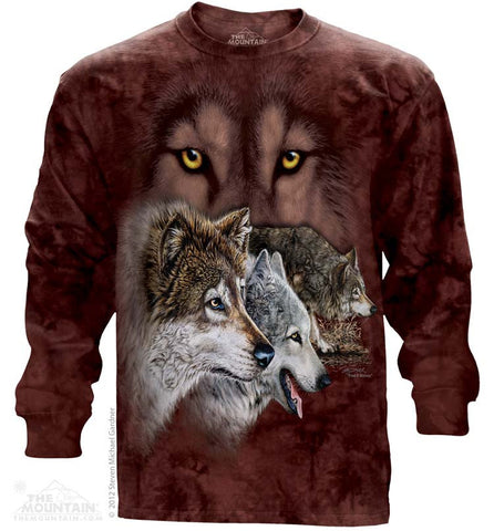 453459 Find 9 Wolves Long Sleeved Tee