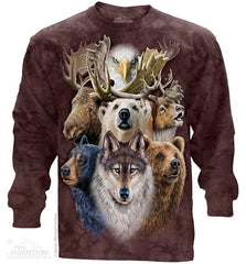 453480 Northern Wildlife Collage Long Sleeved Tee