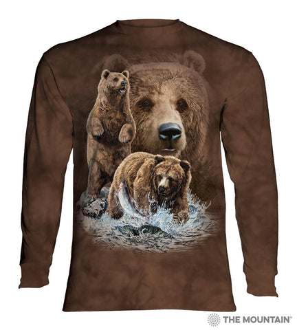 453482 Find 10 Brown Bears Long Sleeved T-Shirt