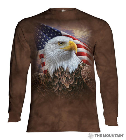 454848 Independence Eagle Long Sleeved T-Shirt