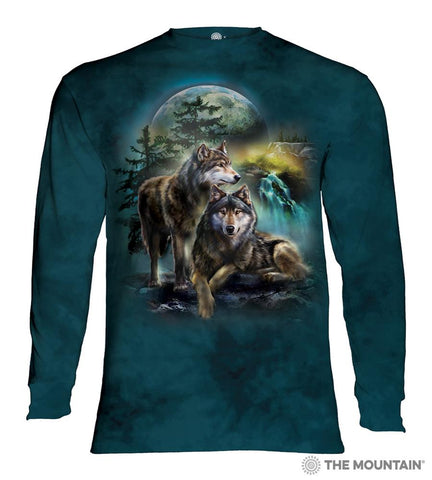 454978 Wolf Lookout Long Sleeved T-Shirt