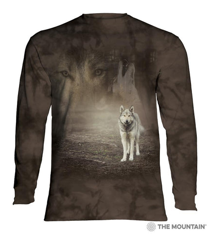 455892 Grey Wolf Portrait Long Sleeved T-Shirt