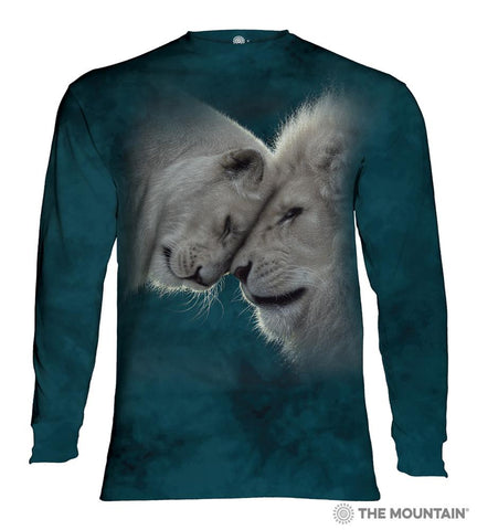 455937 White Lions Love Long Sleeved T-Shirt